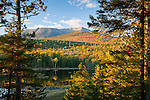 View of Mount Katahdin near Abol Pond in Baxter State Park, Piscataquis County, ME, USA