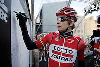 Jurgen Roelandts (BEL/Lotto-Soudal) signing in<br /> <br /> 99th Ronde van Vlaanderen 2015