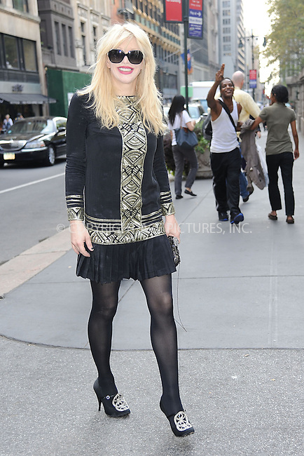 WWW.ACEPIXS.COM<br /> September 11, 2013 New York City<br /> <br /> Courtney Love seen at Mercedes Benz Fashion Week at The New York Public Library in New York City on September 11, 2013.<br /> <br /> By Line: Kristin Callahan/ACE Pictures<br /> ACE Pictures, Inc.<br /> tel: 646 769 0430<br /> Email: info@acepixs.com<br /> www.acepixs.com<br /> Copyright:<br /> Kristin Callahan/ACE Pictures