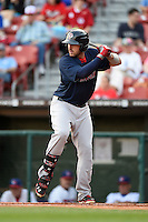 Pawtucket Red Sox first baseman Travis Shaw (39) at bat during a game against the Buffalo Bisons on August 23, 2014 at Coca-Cola Field in Buffalo, New  York.  Buffalo defeated Pawtucket 15-2.  (Mike Janes/Four Seam Images)