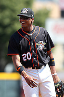 Erie Seawolves Francisco Martinez #20 during a game against the Richmond Flying Squirrels at Jerry Uht Park on July 27, 2011 in Erie, Pennsylvania.  Richmond defeated Erie 4-2.  (Mike Janes/Four Seam Images)