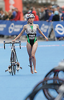 31 AUG 2007 - HAMBURG, GER - Joana Marques (POR) - Junior Womens World Triathlon Championships. (PHOTO (C) NIGEL FARROW)