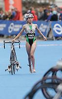 31 AUG 2007 - HAMBURG, GER - Joana Marques (POR) - Junior Womens World Triathlon Championships. (PHOTO (C) NIGEL FARROW)
