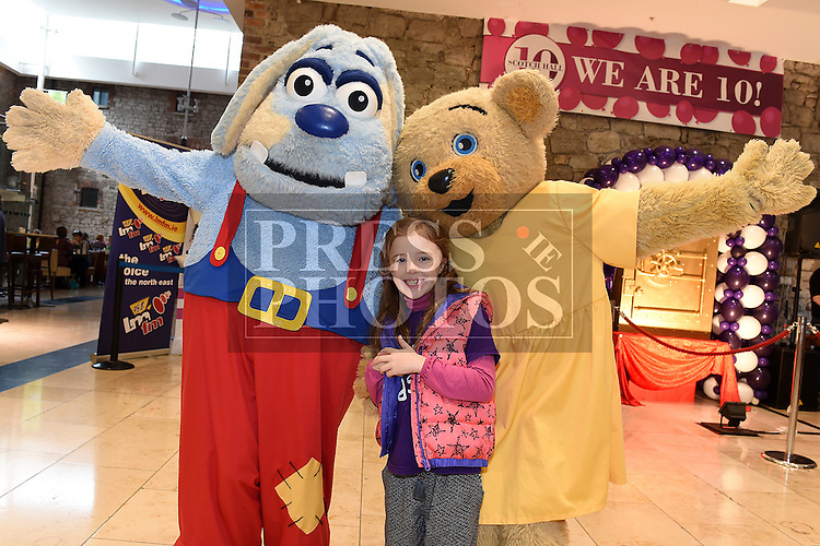 Beth Leydon at the 10th birthday celebrations in Scotch hall shopping centre. Photo:Colin Bell/pressphotos.ie