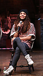 Sasha Hollinger during their #EduHam Q & Aon January 31, 2018 at the Richard Rodgers Theatre in New York City.