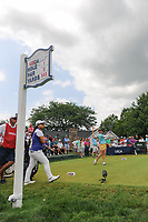Charley Hull (ENG) watches her tee shot on 1 during Saturday's third round of the 72nd U.S. Women's Open Championship, at Trump National Golf Club, Bedminster, New Jersey. 7/15/2017.<br /> Picture: Golffile | Ken Murray<br /> <br /> <br /> All photo usage must carry mandatory copyright credit (&copy; Golffile | Ken Murray)