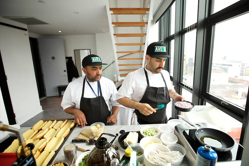 BROOKLYN, NY - May 2, 2016: The Breakfast Club, hosted by Trends on Trends at the fifth annual Food Book Fair at the Wythe Hotel in Williamsburg.<br /> <br /> CREDIT: Clay Williams for Food Book Fair.<br /> <br /> &copy; Clay Williams / claywilliamsphoto.com