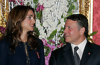 Jordan's Queen Rania and  King Abdullah II - 16/03/2009