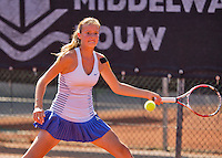 Netherlands, Rotterdam August 07, 2015, Tennis,  National Junior Championships, NJK, TV Victoria, Isabelle Haverlag<br /> Photo: Tennisimages/Henk Koster