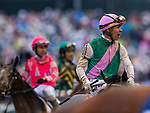 LOUISVILLE, KENTUCKY - MAY 04:  Jose Ortiz after aboard Tacitus after the Kentucky Derby at Churchill Downs in Louisville, Kentucky on May 04, 2019. Evers/Eclipse Sportswire/CSM