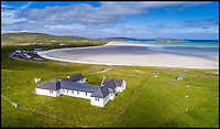 BNPS.co.uk (01202 558833)<br /> Pic:  Savills/BNPS<br /> <br /> A remote coastal cottage where author Sir Compton Mackenzie wrote his classic novel Whisky Galore has gone on the market for offers over £325,000.<br /> <br /> The five bed house is situated on the a beach on the tiny Isle of Berra in the Outer Hebrides in Scotland. <br /> <br /> The windswept location inspired Sir Compton to pen the hilarious story of a parched island community going to great lengths to recover thousands of bottles of whisky washed up from a shipwreck.<br /> <br /> The author also wrote Monarch of the Glen from the living room of the cottage that looks out to the sandy beach and the Sea of the Hebrides.