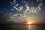 24.06.2014., Croatia, Zadar - Beautiful colorful sunset in the Zadar seafront. <br />   Foto &copy; nph / Filip Brala / PIXSELL