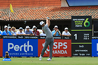 Thorbjorn Olesen (DEN) in action on the 1st during Round 1 of the ISPS Handa World Super 6 Perth at Lake Karrinyup Country Club on the Thursday 8th February 2018.<br /> Picture:  Thos Caffrey / www.golffile.ie<br /> <br /> All photo usage must carry mandatory copyright credit (&copy; Golffile | Thos Caffrey)
