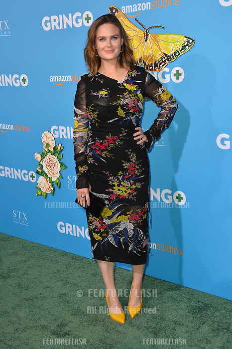Emily Deschanel at the world premiere for &quot;Gringo&quot; at the L.A. Live Regal Cinemas, Los Angeles, USA 06 March 2018<br /> Picture: Paul Smith/Featureflash/SilverHub 0208 004 5359 sales@silverhubmedia.com