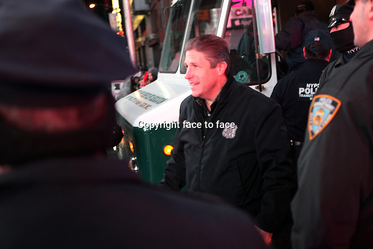 New York, NY-December 31: Pat Lynch at the 2014 New Years Eve Celebration held in Times Square on December 31, 2013 in New York City.<br />