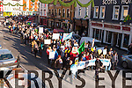 Irish Water protestors marching in Killarney on Saturday