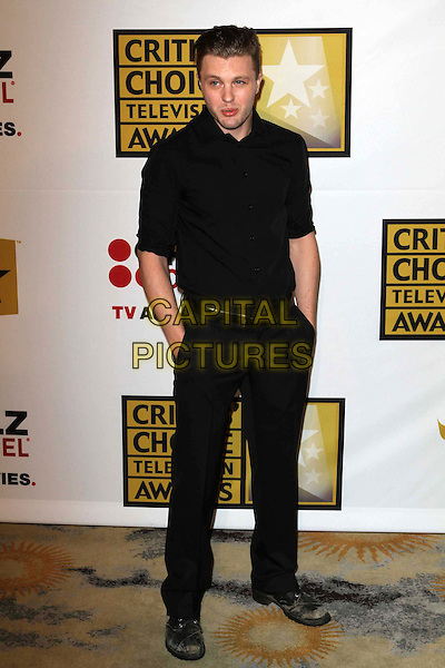 Michael Pitt.1st Annual Critics' Choice Television Awards Luncheon held at The Beverly Hills Hotel, Beverly Hills, California, USA, 20th June 2011..full length black shirt hands in pockets  belt trousers .CAP/ADM/KB.©Kevan Brooks/AdMedia/Capital Pictures.