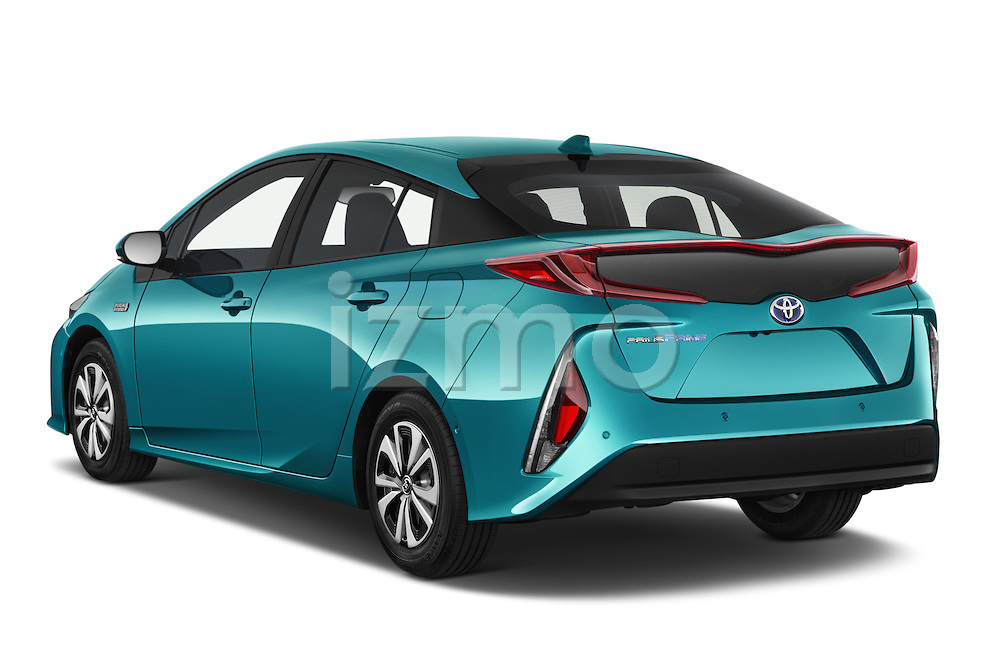 Car pictures of rear three quarter view of 2017 Toyota PRIUS PRIME Four 5 Door Hatchback angular rear