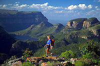 BLYDE RIVER, SOUTH AFRICA, DECEMBER 2004. Trekking the Blyde River hiking trail one will see great panorama's and lots of waterfalls. South African Nature offers some of the world's best adrenaline sports and outdoor challenges. Photo by Frits Meyst/Adventure4ever.com