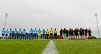 20170914 - TUBIZE ,  BELGIUM : Both team line ups pictured during the friendly female soccer game between the Belgian Red Flames and European Champion The Netherlands , a friendly game in the preparation for the World Championship qualification round for France 2019, Thurssday 14 th September 2017 at Euro 2000 Center in Tubize , Belgium. PHOTO SPORTPIX.BE | DAVID CATRY