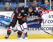 Drew Ellement (Northeastern - 2), Jason DeLuca (Lowell - 9) - The visiting Northeastern University Huskies defeated the University of Massachusetts-Lowell River Hawks 3-2 with 14 seconds remaining in overtime on Friday, February 11, 2011, at Tsongas Arena in Lowelll, Massachusetts.