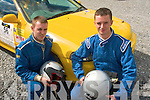CAR RACING: Darran Young and Sean Walsh both from Tralee about to take part in last Saturday's rally sprint at Ballybeggan race course organised by Kerry Motor Club.