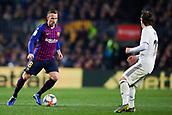 6th February 2019, Camp Nou, Barcelona, Spain; Copa del Rey football semi final, 1st leg, Barcelona versus Real Madrid; Arthur Melo of FC Barcelona takes on Luka Modric of Real Madrid