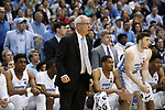 CHAPEL HILL, NC - FEBRUARY 12: UNC head coach Roy Williams. The University of North Carolina Tar Heels hosted the University of Notre Dame Fighting Irish on February 12, 2018 at Dean E. Smith Center in Chapel Hill, NC in a Division I men's college basketball game. UNC won the game 83-66.