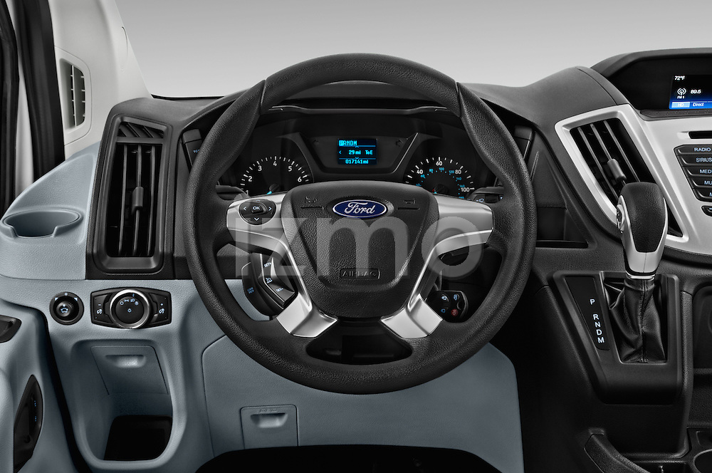 Car pictures of steering wheel view of a 2016 Ford Transit 350-XLT-Med-Roof 4 Door Passenger Van Steering Wheel