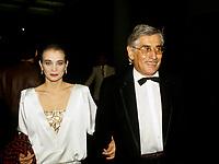 FILE PHOTO -  Gilles Carle<br />  et Chloee Sainte-Marie<br /> <br /> <br /> Festival des films du Monde de 1987<br /> <br /> <br /> Photo  :  Denis Alix - Agence Quebec Presse