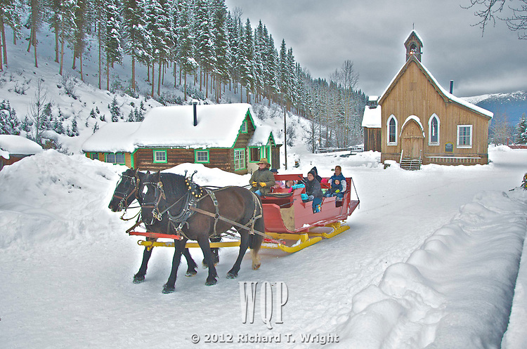 Barkerville, Christmas Sleigh Ride, St. Savior's church, Victorian Christmas, 2011