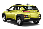 Car pictures of rear three quarter view of a 2018 Hyundai Kona Twist 5 Door SUV angular rear
