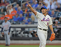 Daisuke Matsuzaka (Mets), AUGUST 23, 2013 - MLB : Daisuke Matsuzaka of New York Mets reacts in their MLB baseball game between New York Mets and Detroit Tigers at Citi Field in New York on Friday August 23, 2013. (Photo by AFLO)