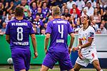 11.08.2019, Stadion an der Bremer Brücke, Osnabrück, GER, DFB Pokal, 1. Hauptrunde, VfL Osnabrueck vs RB Leipzig, DFB REGULATIONS PROHIBIT ANY USE OF PHOTOGRAPHS AS IMAGE SEQUENCES AND/OR QUASI-VIDEO<br /> <br /> im Bild | picture shows:<br /> Yussuf Poulsen (RB Leipzig #9) enttaeuscht nach vergebener Torchance, <br /> <br /> Foto © nordphoto / Rauch