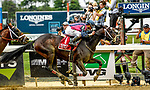 ELMONT, NY - JUNE 08: Our Braintrust, #1, ridden by Javier Castellano, wins the Tremont  during Friday racing action of the Belmont Stakes Festival at Belmont Park on June 8, 2018 in Elmont, New York. (Photo by Carson Dennis/Eclipse Sportswire/Getty Images)