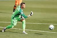 12th July 2020; Estadio Municipal de Butarque, Madrid, Spain; La Liga Football, Club Deportivo Leganes versus Valencia; Goalkeeper Ivan Cuellar (CD Leganes)  puts the ball back into play to his defenders