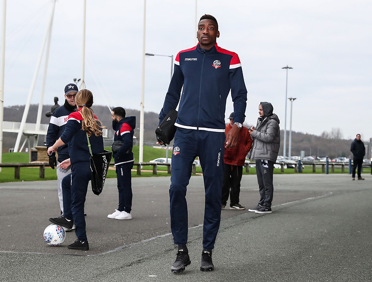 Bolton Wanderers' Sammy Ameobi arriving at the stadium before today's match<br /> <br /> Photographer Andrew Kearns/CameraSport<br /> <br /> Emirates FA Cup Third Round - Bolton Wanderers v Walsall - Saturday 5th January 2019 - University of Bolton Stadium - Bolton<br />  <br /> World Copyright © 2019 CameraSport. All rights reserved. 43 Linden Ave. Countesthorpe. Leicester. England. LE8 5PG - Tel: +44 (0) 116 277 4147 - admin@camerasport.com - www.camerasport.com