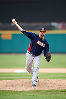 Toledo Mudhens relief pitcher Dustin Molleken (35) during a game against the Rochester Red Wings on June 12, 2016 at Frontier Field in Rochester, New York.  Rochester defeated Toledo 9-7.  (Mike Janes/Four Seam Images)