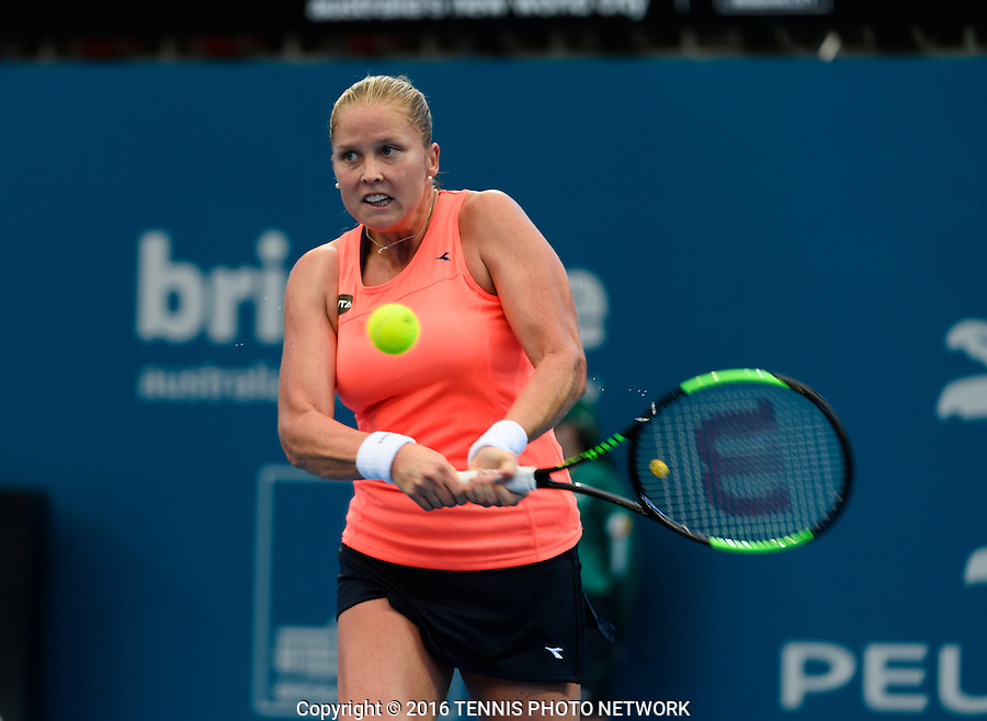 SHELBY ROGERS of UNITED STATES OF AMERICA (USA) <br /> <br /> 2017 BRISBANE INTERNATIONAL, PAT RAFTER ARENA, BRISBANE TENNIS CENTRE, BRISBANE, QUEENSLAND, AUSTRALIA<br /> <br /> &copy; TENNIS PHOTO NETWORK