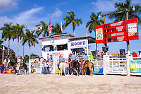 Saddle Bronc Riding at 65th year of The Homestead Rodeo, Homestead, FL, on January 26, 2014