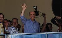 ATENCAO EDITOR FOTO EMBARGADA PARA VEICULO INTERNACIONAL - SAO PAULO, SP, 29 DE SETEMBRO 2012 - JOSE SERRA - O candidato à Prefeitura de São Paulo pelo PSDB, José Serra, visita o Museu do Futebol, no Estádio do Pacaembu, na zona oeste da capital paulista, neste sábado (29).FOTO VANESSA CARVALHO - BRAZIL PHOTO PRESS.