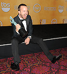 Aaron Paul in the press room at the 20th Annual Screen Actors Guild Awards, held at the Shrine Auditorium Los Angeles, Ca. January 18, 2014.