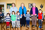 Preschool children joined their senior citizens for some Salsa dancing in Castleisland Daycare on Monday morning front l-r, Maeve O'Donoghue, Liam raidy, Connie donnegan, Sean Brook, Zach Georgiv. Back row: Marcella Finn, Mary Mcaulliffe and Eilish Geaney
