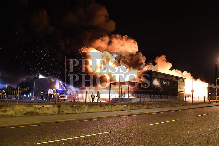 Fire at Industrial estate Drogheda. Photo:Colin Bell/pressphotos.ie