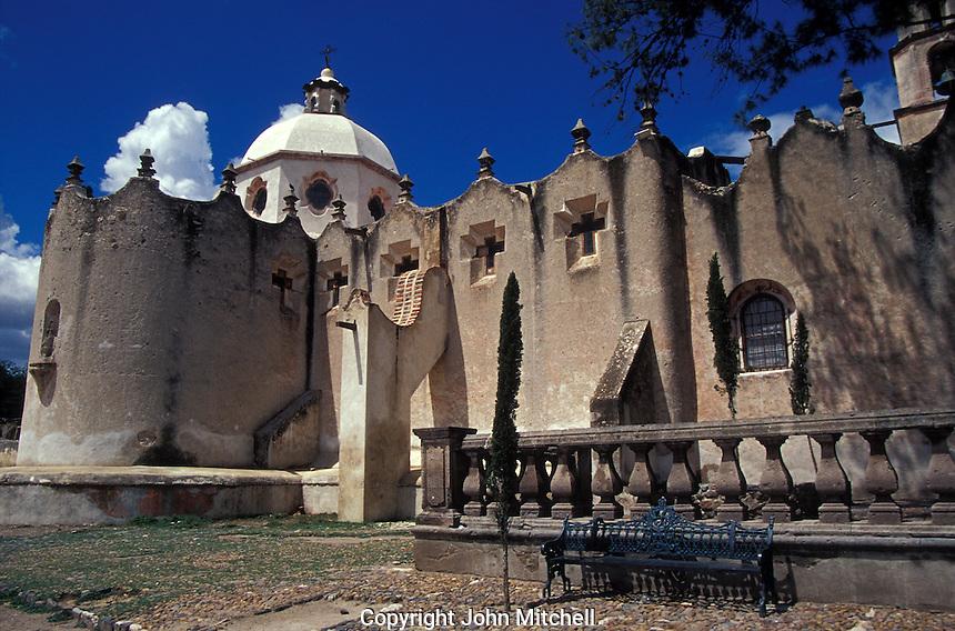 The Santuario de Atotonilco near San Miguel de Allende, Guanajuato state, Mexico. This sanctuary is an important Catholic pilgrimage site and a UNESCO World Heritage Site.