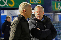 Northampton Town Manager Keith Curle and Portsmouth Manager Kenny Jackett during Portsmouth vs Northampton Town, Leasing.com Trophy Football at Fratton Park on 3rd December 2019