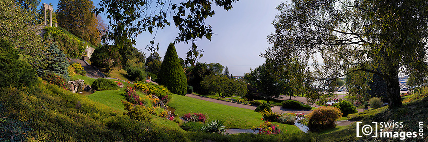 "View of the park ""Bourg-de-Rive"" in Nyon, Switzerland"