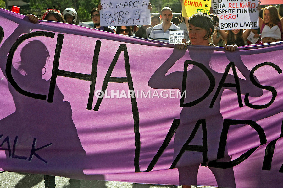 Manifestaçao Marcha das Vadias na avenida Paulista..São Paulo. 2012. Foto de Euler Paixao.