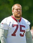 Washington Redskins offensive guard Brandon Scherff (75)  participates in the Veteran Minicamp at Redskins Park in Ashburn, Virginia on Tuesday, June 14, 2016.<br /> Credit: Ron Sachs / CNP