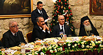 Palestinian Prime Minister, Rami Hamdallah, attends the Mass and dinner Christmas in the West Bank city of Bethlehem, on January 6, 2019. Photo by Prime Minister Office